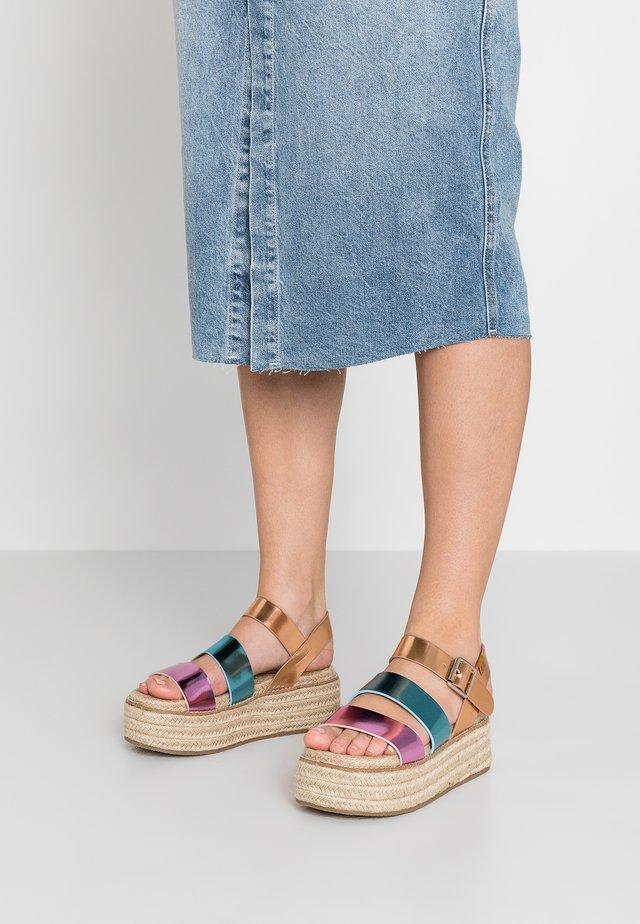 RANMA - Platform sandals - multicolor