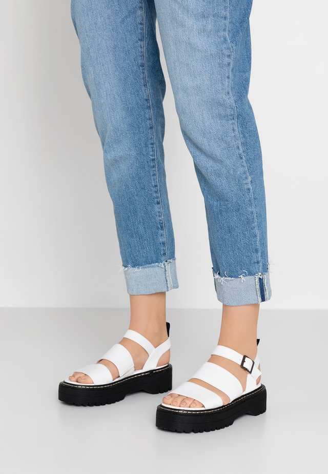 MARS - Platform sandals - white