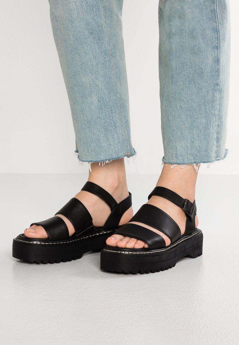 Coolway - MARS - Platform sandals - black
