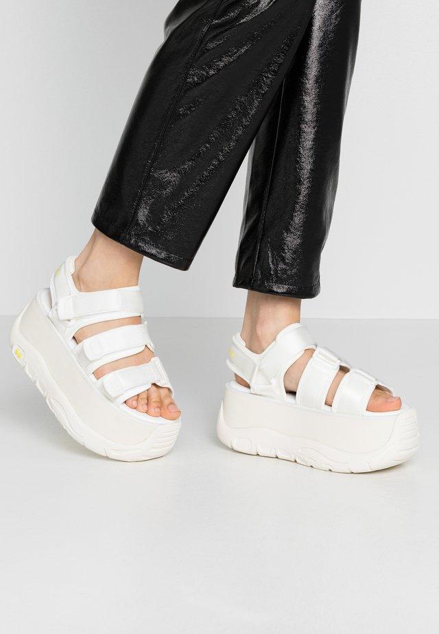 CALID - Platform sandals - white