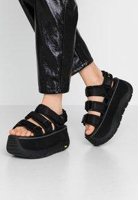 Coolway - CALID - Platform sandals - black - 0