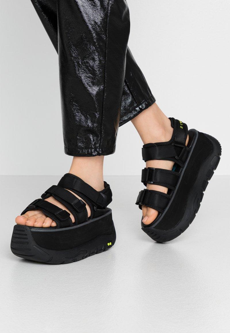 Coolway - CALID - Platform sandals - black