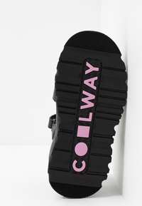 Coolway - GRAVITY - Platform sandals - black - 6