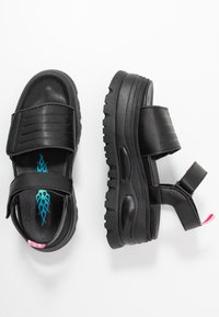 Coolway - GRAVITY - Platform sandals - black - 3