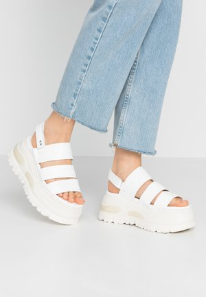 GROUND - Platform sandals - white