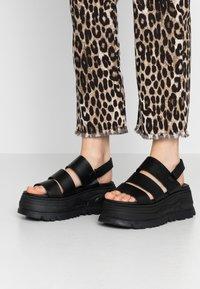 Coolway - GROUND - Platform sandals - black - 0