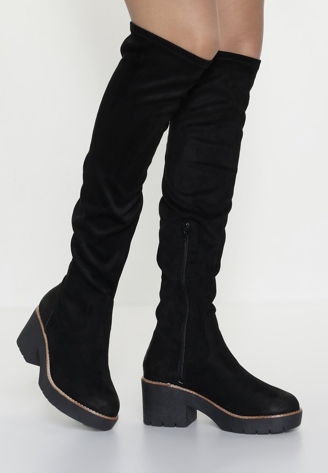 BENJI - Over-the-knee boots - black