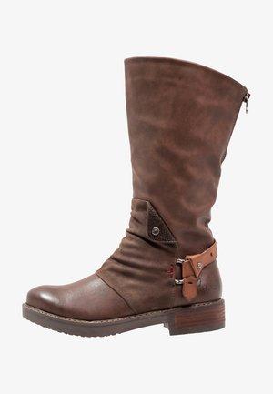 DAVISON - Kovbojské/motorkářské boty - brown