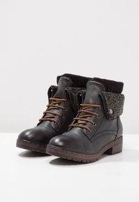 Coolway - BRING - Lace-up ankle boots - black - 3