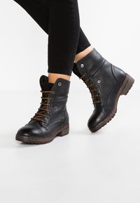 Coolway - BRING - Lace-up ankle boots - black - 0