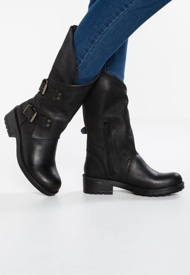 ALIDA - Kowbojki i obuwie motocyklowe - black