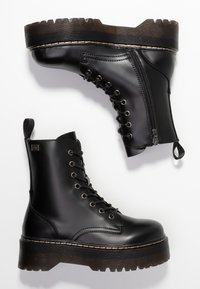 Coolway - ABBY - Platform ankle boots - black - 3