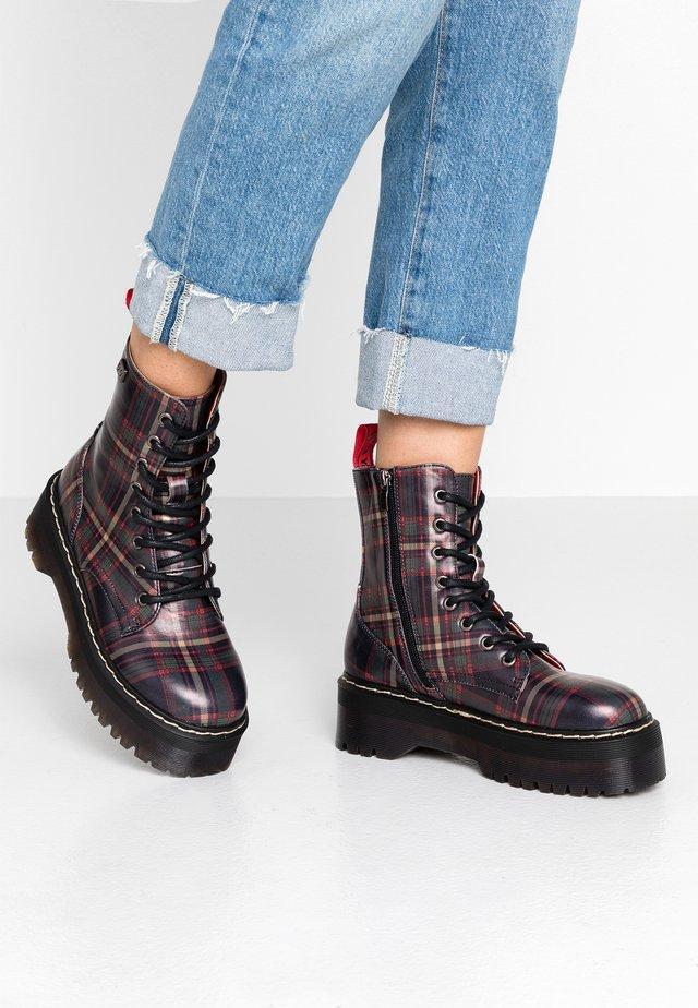 ABBY - Kotníkové boty na platformě - black