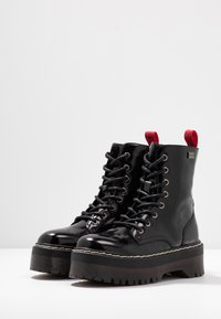 Coolway - ABBY - Platform ankle boots - black - 4
