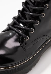 Coolway - ABBY - Platform ankle boots - black - 2