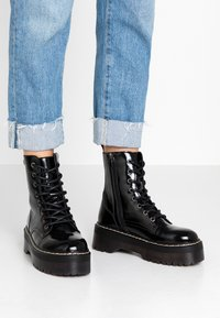 Coolway - ABBY - Platform ankle boots - black - 0