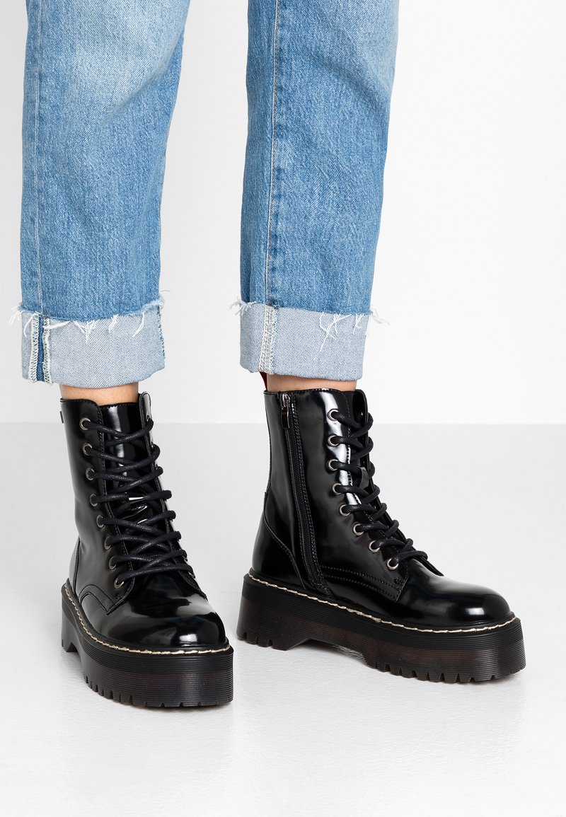 Coolway - ABBY - Platform ankle boots - black