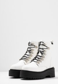 Coolway - Platform ankle boots - white - 4