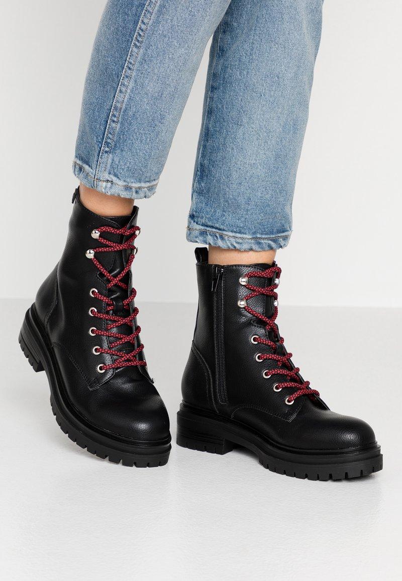 Coolway - TAMAR - Platform ankle boots - black