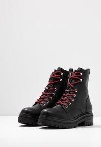 Coolway - TAMAR - Platform ankle boots - black - 4