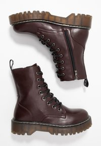 Coolway - CARDY - Platform ankle boots - burgundy - 3