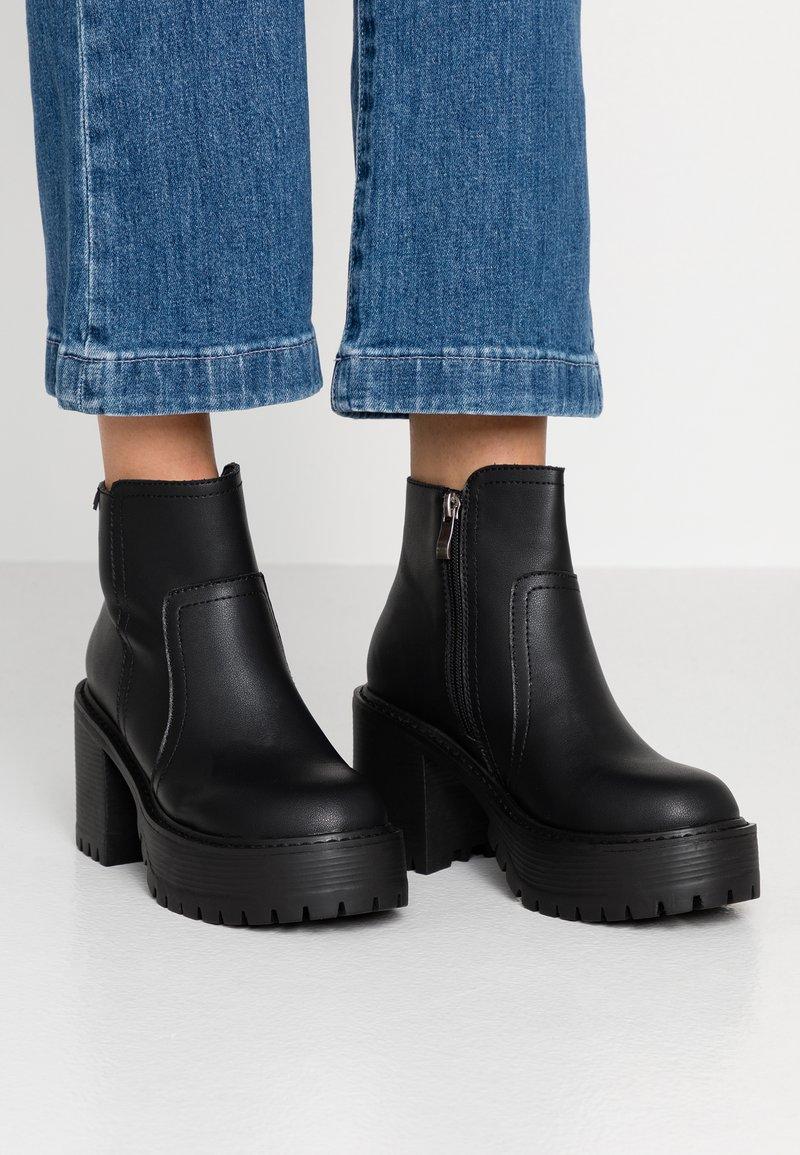 Coolway - BORNISE - Kotníková obuv na vysokém podpatku - black
