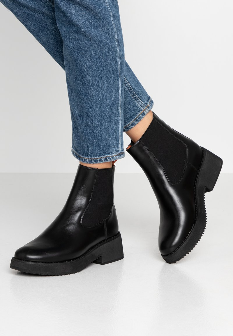 Coolway - RUMIE - Platform ankle boots - black