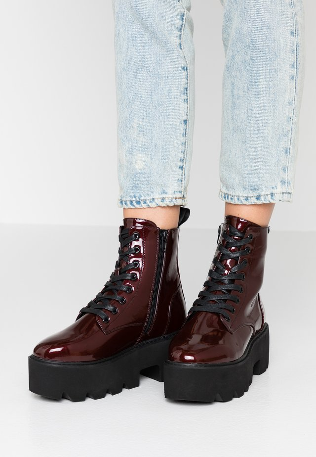 ELIZA - Bottines à plateau - burgundy