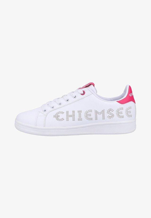 Sneakers laag - white/fuxia