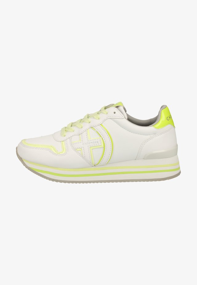 Sneaker low - white/yellow