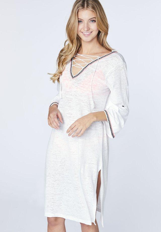 MIT AUSGESTELLTEN ÄRMELN - Beach accessory - bright white