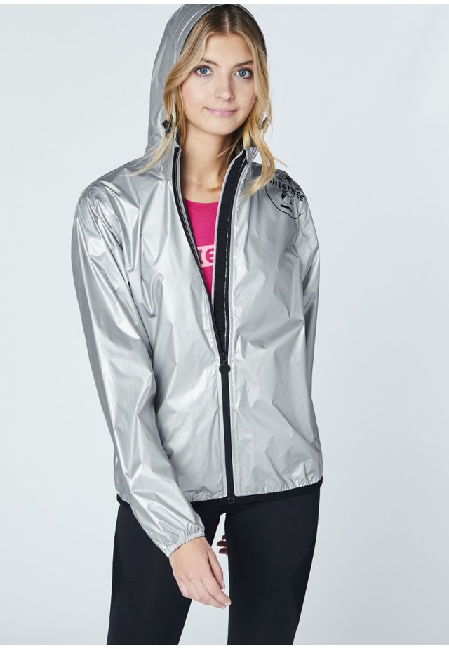 ZUR FALTBAR - Waterproof jacket - silver metalic