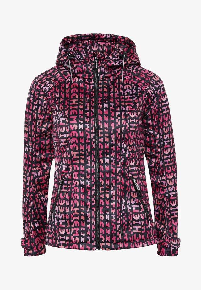 Soft shell jacket - pink/black