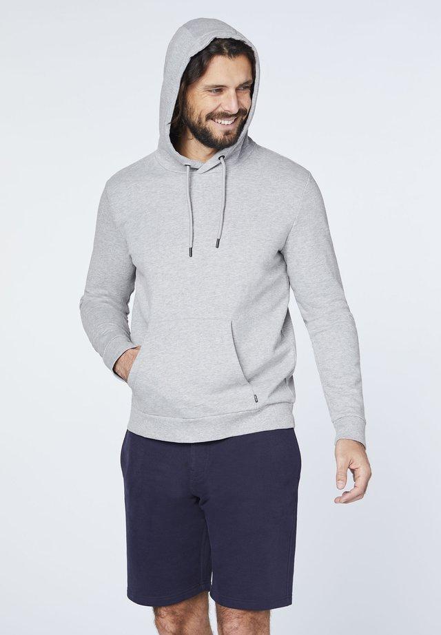 MIT GROSSEM RÜCKENPRINT - Hoodie - neutral gray