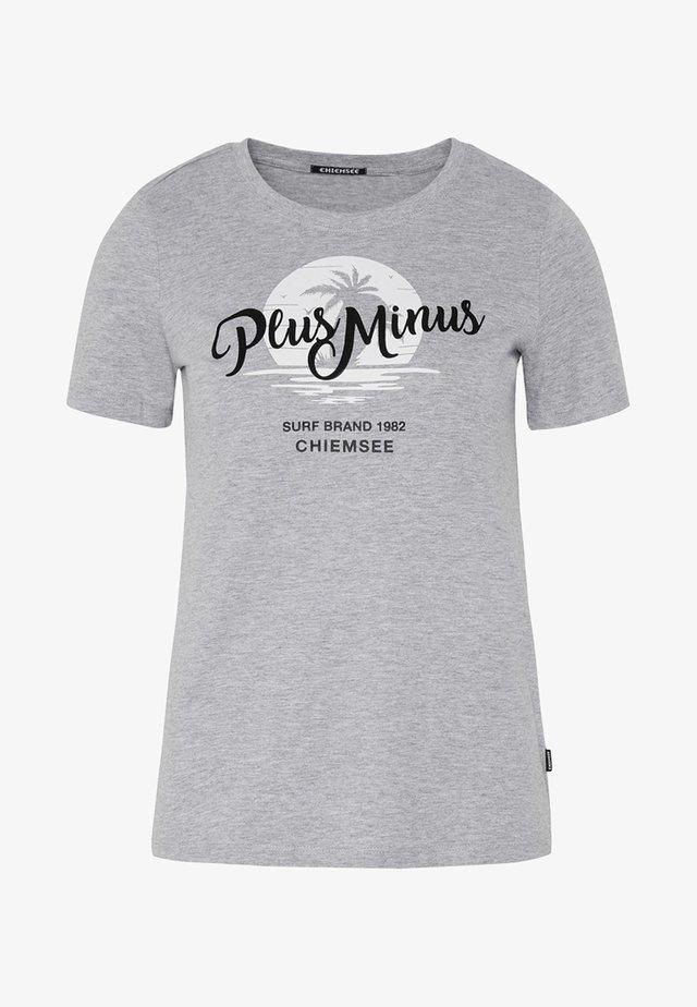 MIT PALMENFRONTPRINT - Print T-shirt - grey
