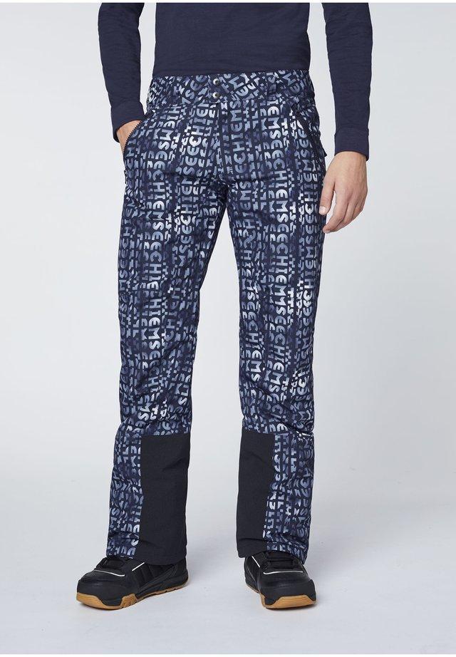 MIT VORGEFORMTEN KNIEPARTIEN - Snow pants - blue