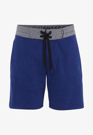 MIT ELASTISCHEM BUND - GOTS ZERTIFIZIERT - Sports shorts - blue