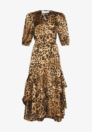 WRAP - Długa sukienka - syrah mix