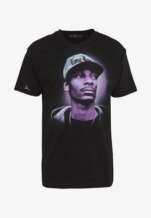Print T-shirt - black/purple