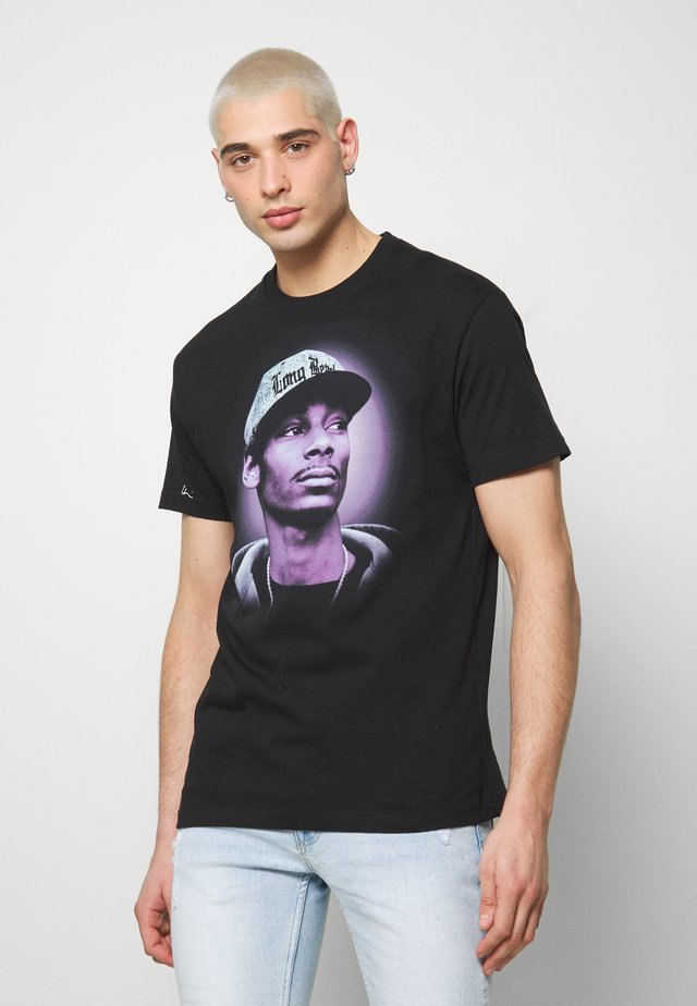 T-shirt imprimé - black/purple