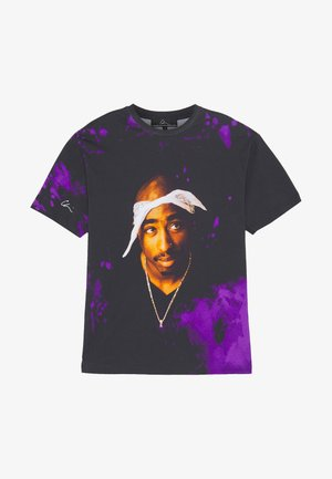 T-shirt med print - black/purple