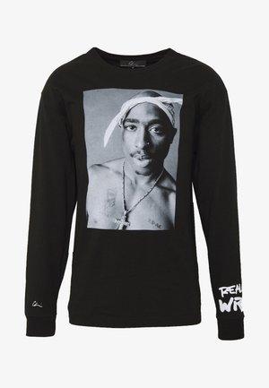 REALITY - T-shirt à manches longues - black/white