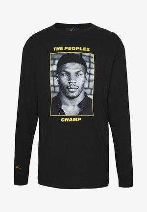THE PEOPLES CHAMP 2 - Top sdlouhým rukávem - black/yellow