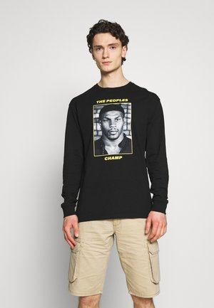 THE PEOPLES CHAMP 2 - Long sleeved top - black/yellow