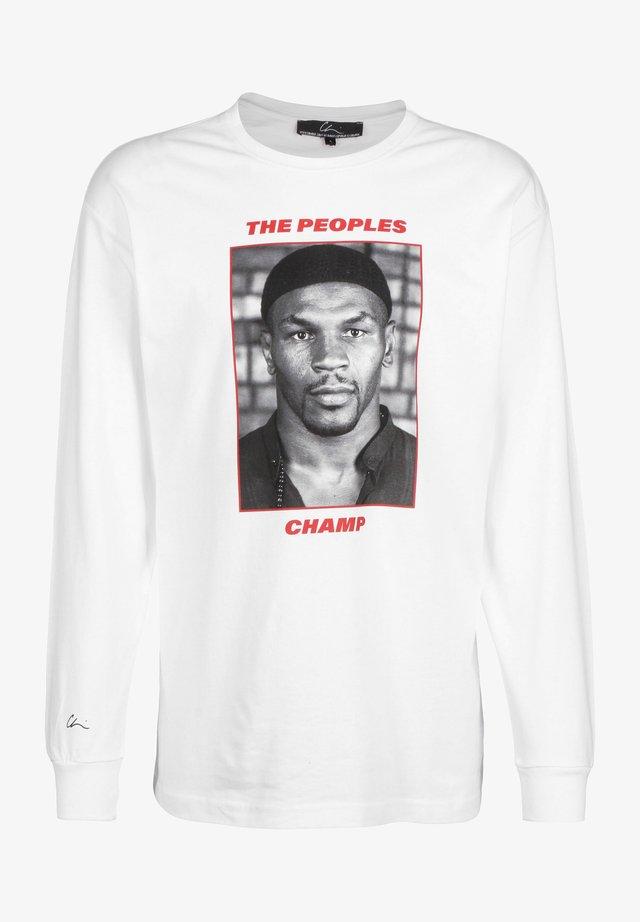 LONGSLEEVE TYSON 2 - T-shirt à manches longues - white/print red