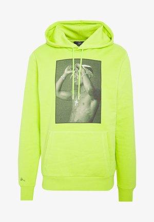 Bluza z kapturem - neon green/black