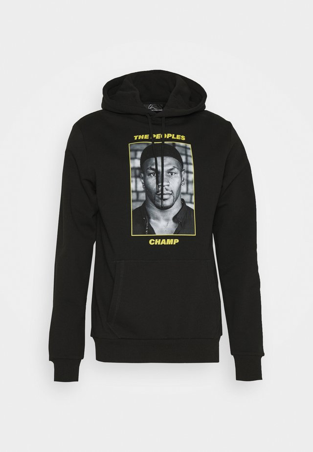 THE PEOPLES CHAMP 3 - Sweat à capuche - black/yellow