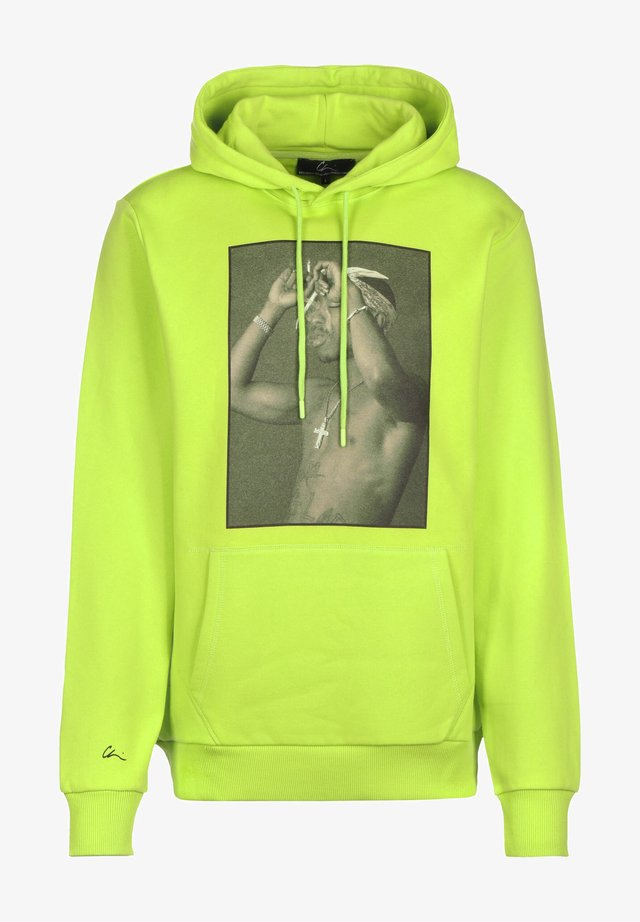 SNCL 2 - Sweat à capuche - neon green/print black