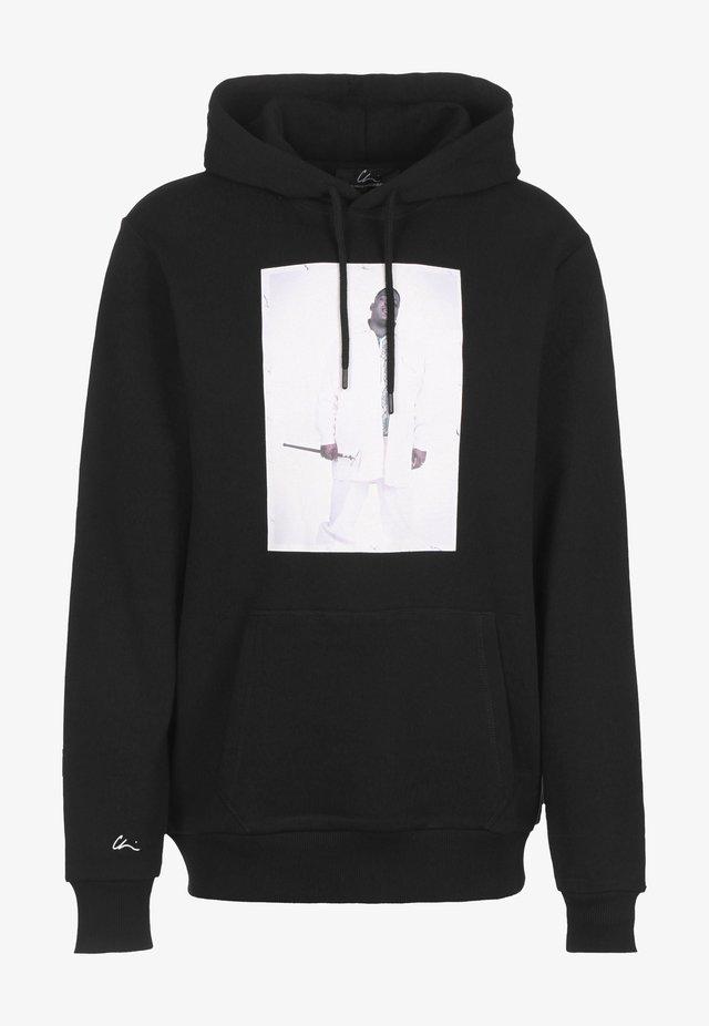 HOODIE BK 2 - Sweater - black/print white