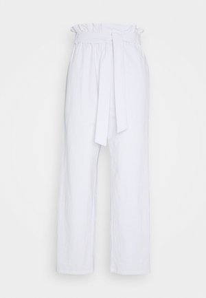 PAPER BAG PANT - Trousers - white
